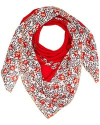 Tommy Hilfiger - Tjw Floral Square Scarf, (red Mix 902), One (size: Os) - Lyst