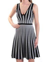 ec3251a023a Lyst - Guess Sleeveless Vivianne Ombre Ottoman Dress in Black