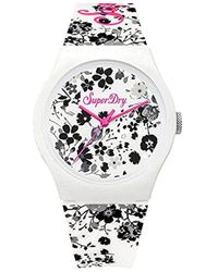 Superdry - Quartz Plastic And Silicone Casual Watch, Color:white (model: Syl177wb) - Lyst