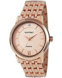 Ellen Tracy - Quartz Metal And Alloy Casual Watch, Color:white (model: Et5292rg) - Lyst