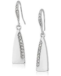 Laundry by Shelli Segal - Small Pave Paddle Drop Earrings - Lyst