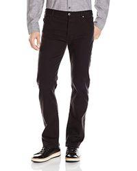 Armani Jeans - J21 Regular Straight Fit Bull Comfort Stretch Jeans, Black Denim, 30 - Lyst