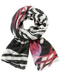 Desigual - Zebra Woven Scarf - Lyst