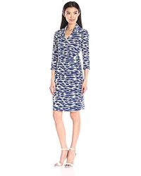 Laundry by Shelli Segal - Cool Cat Wrap Dress - Lyst