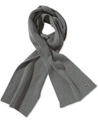 Lacoste - Ribbed Scarf - Lyst