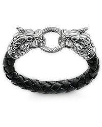 Thomas Sabo - Bracciali di corda Uomo argento - Lyst