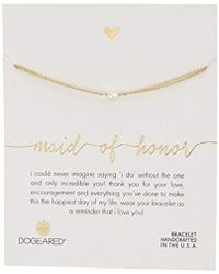 """Dogeared - Maid Of Honor Small Freshwater Cultured Pearl Bracelet, 6""""+1"""" Extender - Lyst"""