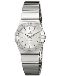 Omega - 123.10.24.60.02.002 Constellation 09 Polished Silver Dial Watch - Lyst