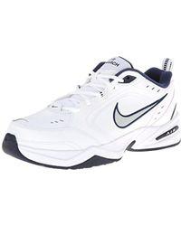 Nike - Air Monarch 4 Medium Width S (11.5) White/metallic Silver -