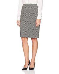 Kasper - Novelty Herringbone Slim Skirt - Lyst