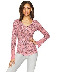 William Rast - Clementine Bateau Neck Top With Lace - Lyst