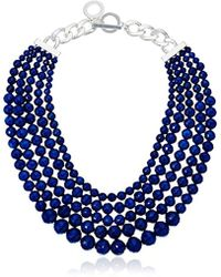 Anne Klein - Silver-tone And Multi-row Beaded Necklace - Lyst