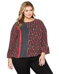 NIC+ZOE - Plus Size Mixed Dots Top - Lyst