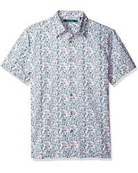 Perry Ellis - Big And Tall Floral Painted Shirt - Lyst