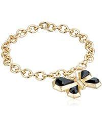 "Kensie - Chain With Geo Butterfly Charm Bracelet, 7.5"" - Lyst"