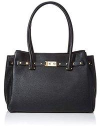 3e1c7b55e23a Michael Kors Large Addison Pebbled Black Leather Tote Bag in Black ...
