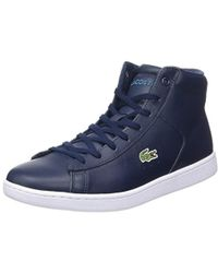 3b93e1086 Lacoste Carnaby Evo Wedge Women s Shoes (high-top Trainers) In Blue ...
