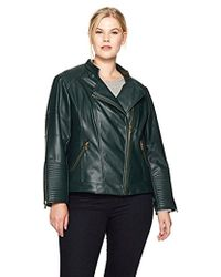 Calvin Klein - Plus Size Pu Jacket With Seaming - Lyst