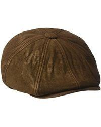 Sean John - 8 Panel Flat Cap, 100% Heavy Cotton Moleskin Fabric - Lyst