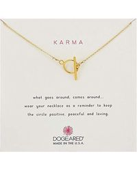 "Dogeared - Karma Toggle, Chain Necklace, 18"" - Lyst"