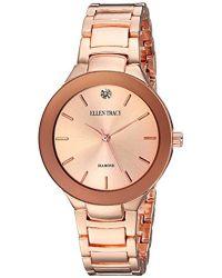 Ellen Tracy - Quartz Metal And Alloy Casual Watch, Color:rose Gold-toned (model: Et5294rg) - Lyst