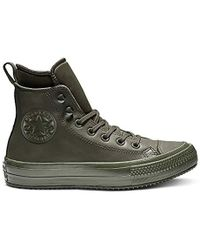 37973cfdababc Chucks 162501c Green Leather Chuck Taylor All Star Wp Boot Utitlity Green