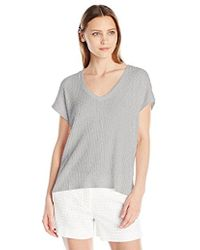 Velvet By Graham & Spencer - Thermal Knit Shortsleeve Top - Lyst