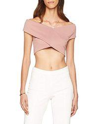 35c6a22eec252 Miss Selfridge - Jumbo Rib Wrap Crop T-shirt - Lyst