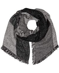 Levi's - Assymetrical Fringe Wrap Scarf, (noir Regular Grey 55), One (size: Un) - Lyst