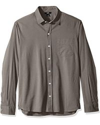 PAIGE - Hastings Button Down Shirt - Lyst