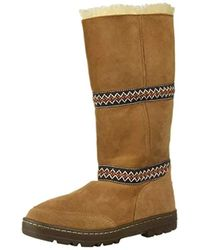 6c60dec2359 UGG Women's Miko Waterproof Leather Tall Boot in Brown - Lyst