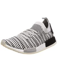 99895f5d22298 adidas Originals White Nmd R1 Stlt Primeknit Sneakers in White for ...