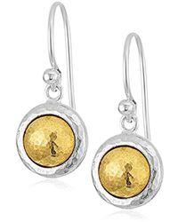 """Gurhan - """"amulet"""" Sterling Silver Round Drop Earrings - Lyst"""