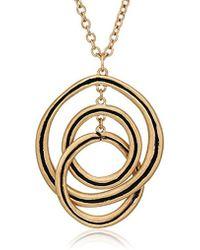The Sak - Line It Up Ribbed Orbit Pendant Necklace - Lyst