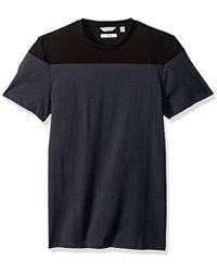 CALVIN KLEIN 205W39NYC - Short Sleeve Jersey Tee With Rib Details, Black, 2xl - Lyst