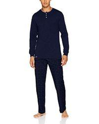 Lacoste - Loungewear Long Sleeve Holiday Set Pyjama - Lyst