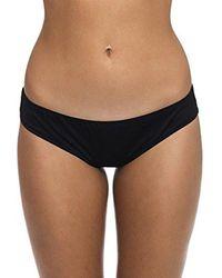 Oakley - Core Solids Shirred Bikini Bottom - Lyst