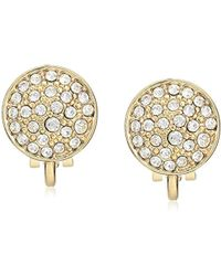 Laundry by Shelli Segal - Domed Pave Clip-on Earrings - Lyst