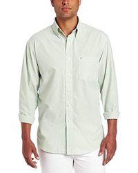 Izod - Essential Striped Long Sleeve Shirt (regular & Slim Fit) - Lyst