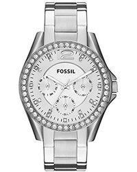 Fossil - Orologio Analogico Quarzo Donna con Cinturino in Acciaio Inox ES3202 - Lyst