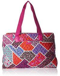 Vera Bradley - Triple Compartment Travel Bag, Signature Cotton - Lyst