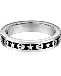 King Baby Studio - Stackable Skull And Star Ring - Lyst
