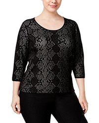 CALVIN KLEIN 205W39NYC - Plus Size L/s Sweater With Snake Detail - Lyst