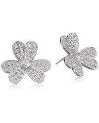 CZ by Kenneth Jay Lane - Cubic Zirconia Floral Stud Earrings - Lyst