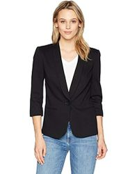 James Jeans - Shrunken Tuxedo Slim Collar Jacket In Black Ponte - Lyst