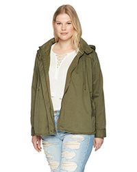 Lucky Brand - Plus Size Raw Edge Military Jacket - Lyst