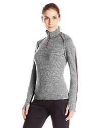 Lark & Ro - Active Long Sleeve Colorblock Pullover Top - Lyst