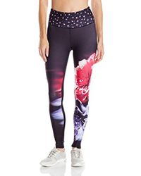 Nanette Lepore - Play Smoothe Wide Waistband Flower Fall Legging - Lyst