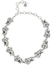 Betsey Johnson - Something New Crystal Flower Collar Necklace - Lyst