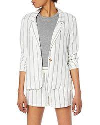 Vero Moda Vmanna Milo Ls Blazer Stripe Wvn Suit Jacket - White